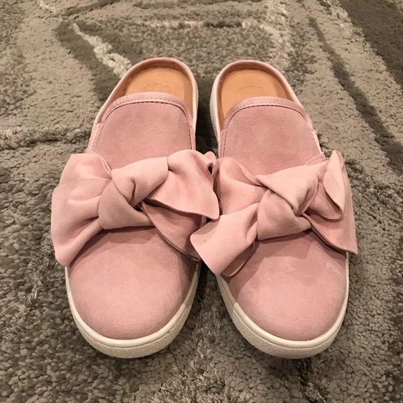 d809687c3df UGG Luci Bow Sneaker Mule; Seashell Pink Suede